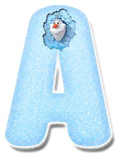Alfabeto Decorativo: Alfabeto - Frozen { Olaf } - PNG - Letras - Maiúsc...