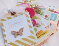 #MiniAlbum // via Gossamer Blue   Love the details that were included - a great way to remember an event.