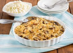 CAULIFLOWER CAULIETTES - Swap potato for cauliflower easily for a healthier side dish like this Cauliettes® Mushroom Gratin that will add flavor and pizazz to your holiday meal.