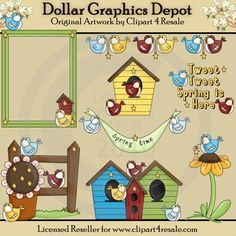Spring Birdie - $1.00 : Dollar Graphics Depot, Your Dollar Graphic Store