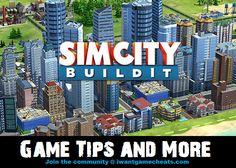 SimCity BuildIt Cheats, Hints, Codes, Tips, Hacks, Glitches, Secrets, Walkthroughs and Guides.