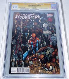 Amazing Spider-Man #1 Clayton Crain SIGNATURE SS BLACK SUIT VIRGINCGC 9.8 ERROR