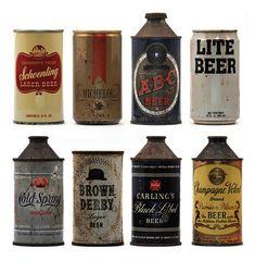 vintage beer cans (via abduzeedo.com)