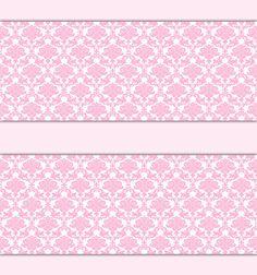 PINK DAMASK WALLPAPER Border Wall Decal Baby Girl Princess Nursery Stickers #decampstudios