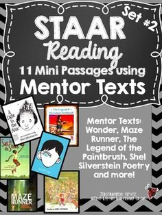 STAAR Reading Mentor Text Set #2 Warm Ups {Grades 3-5 Answ