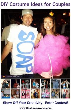 DIY Costumes for Couples - some great Halloween costume ideas!