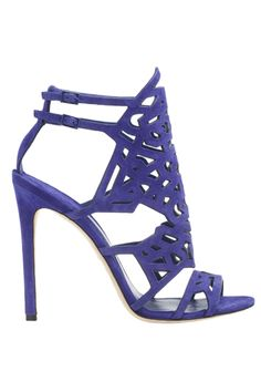 Shoes for that tropical vacation you've been planning (or just dreaming about...) #purple #heels #sandals