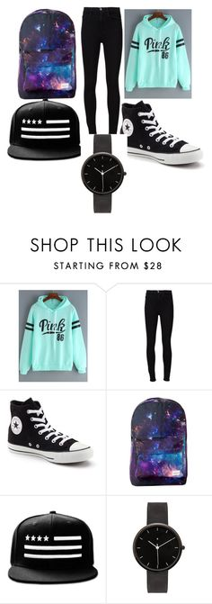 """""""simple but cool"""" by sprolsvtt on Polyvore featuring Frame Denim, Converse and I Love Ugly"""