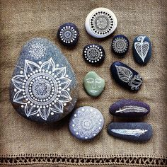 painted stones by MagaMerlina, via Flickr