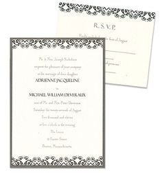 Savannah 2-Layer Wedding Invitations by MyGatsby.com