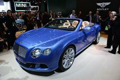 The Bentley Continental GT Speed Convertible was introduced in Detroit on Monday.