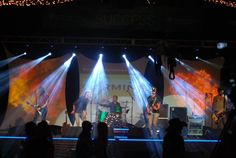 Blackjack Billy concert- Monograms, stage lighting, LED lighting, screens and projection, and sound