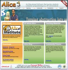 Alice An Educational Software that teaches students computer programming in a 3 D environment.