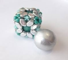 paros par puca beads - Google Search Hexagon Tiles, Paros, Beads, Google Search, Rings, Floral, Flowers, Jewelry, O Beads