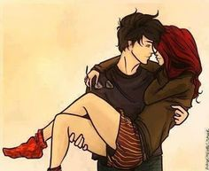 Scarlet and Wolf - LOVING the color of her hair here.  The Thoughtful Novelist: Fanart