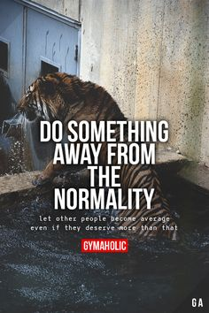 Do Something Away From The Normality. Let other people become average even if they deserve more than that