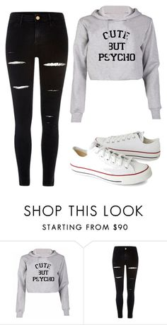 """""""Untitled #33"""" by elinb-ba on Polyvore featuring River Island and Converse"""