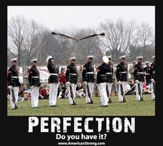 The first time I saw the Marine Corp Silent Drill team in person, I got chills! They are amazing to watch.