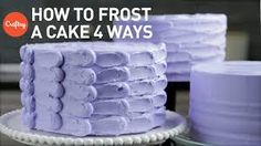 How to Frost a Cake: 4 Easy Finishes, Buttercream Cake Decorating Tutorial. Learn how to frost your cakes with professional flourish! Joshua gives quick tips on stacking your layers, crumb coating, and creating 4 different finishes. Then, check out these Cake Decorating Classes, Birthday Cake Decorating, Cake Decorating Techniques, Cake Decorating Tutorials, Decorating Ideas, Decor Ideas, Buttercream Techniques, Icing Techniques, Buttercream Cake Decorating
