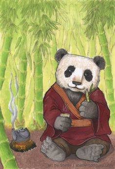 Teatime Panda by ~etherrawen on deviantART