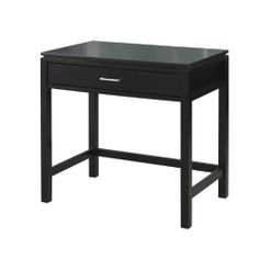 Linon Home Decor Sutton Collection Desk by Linon Home Décor. $120.61. Black Finish. Constructed from rubber wood and rubber wood veneers over particle board and MDF. Large top provides ample work, storage and display space. Contemporary chrome finished hardware. 1 Storage Drawer. The simple beauty of Sutton Desk is enhanced by the contemporary black finish.  The Sutton Collection is suitable for any contemporary or traditional decor.  The Desk features one drawer for extra ...