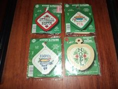 Stitch N Frame Christmas Ornaments Counted Cross Stitch Kit Set of 4 NeedleMagic #NeedleMagic #Ornaments
