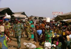 Benin marketplace West Africa, Scene, Marketing, Country, Rural Area, Country Music, Stage