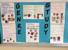 A creative way to use Reading Club flyers to assess student knowledge of literary genres. Teaching Genre, Teaching Reading, Teaching Tools, Teaching Ideas, Library Lessons, Library Ideas, Genre Study, Literary Genre, Reading Club