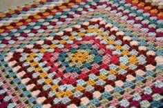 Giant granny square #crochet