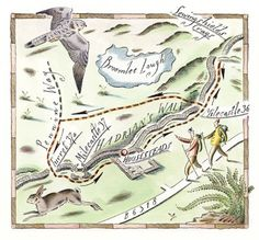 Hadrians Wall Map - Anthony Sidwell