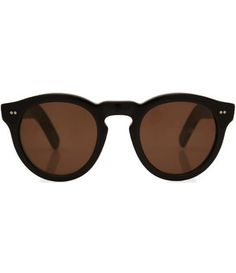 287d517879 Black round frame acetate sunglasses   by Cutler and Gross
