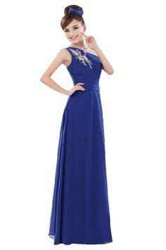 Beauty-Emily Women's Elegant Chiffon One Shoulder Long Dress Evening Dress Size 10 Color Blue Beauty-Emily,http://www.amazon.com/dp/B00E5HBOCW/ref=cm_sw_r_pi_dp_kuYntb1E293A11H9