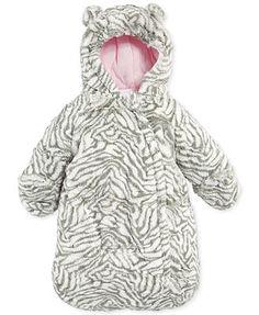 Carter's Baby Girls' Amerex Fuzzy Zebra-Print Pram Bag