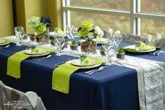 A Seahawks Wedding - Design by Bellingham Wedding and Event Rentals - Photo by Genaro Photography