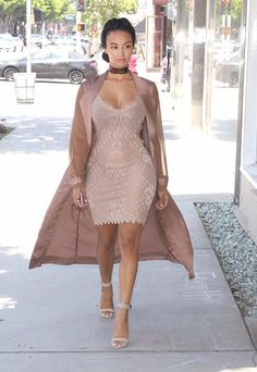 I Like It A Lattedress by Anicy Manuguian , heels by THE KOOPLES , Jacket by House Of CB Fashion Look by Draya Michele