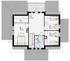 Simons Hus - Elementtitalot - CANTABILE Floor Plans, How To Plan, Floor Plan Drawing, House Floor Plans