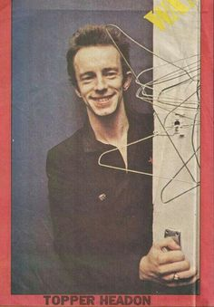 Topper Headon (Nick Headon) (May British drummer, known from the band the Clash. Joe Strummer, Great Bands, Cool Bands, London Calling The Clash, Toast Of London, Topper Headon, The Future Is Unwritten, Paul Simonon, Mick Jones