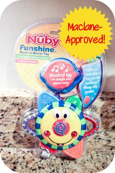 Funshine Mirror, Lights and Sounds Toy Review and Adorable video of my 8 week old!  #PampersPinParty