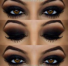 Black smoky eye