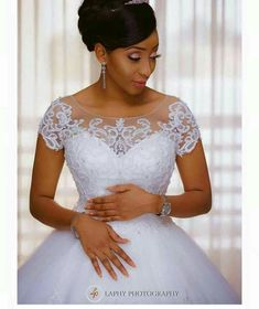 Discount Modest Vintage Lace 2017 Wedding Dresses Jewel With Short Sleeves Appliues Beaded White Tulle Wedding A Line Cheap Bridal Dresses Plus Size Wedding Dress Red And White Wedding Dresses From Happy_dress, &Price; Sheer Wedding Dress, Beautiful Wedding Gowns, Custom Wedding Dress, White Wedding Dresses, Tulle Wedding, Ball Gown Wedding, Reception Dresses, Modest Wedding