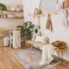 Boho Room, Boho Living Room, Living Room Decor, Bedroom Decor Boho, Scandi Bedroom, My New Room, Room Inspiration, Interior Design, Coral Rug