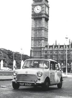 Mini Cooper S Mk II in London, 1968 - Sports Car Digest - The Sports, Racing and Vintage Car Journal Vintage Sports Cars, Vintage Cars, Mini Countryman, Morris Minor, Cabriolet, Smart Car, Mini Cooper S, Car In The World, Classic Mini