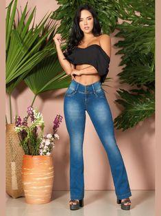 'Kelly' Butt Lift Levanta Cola Jeans 12904 – Colombiana Boutique Brazilian Pants, Underwear, Fade Styles, Blue Boots, Best Jeans, Boutique, Girls Jeans, Color Azul, Body