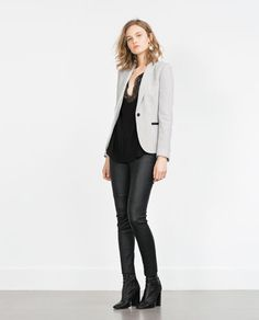 GREY BLAZER-View all-OUTERWEAR-Woman-COLLECTION SS16 | ZARA United States