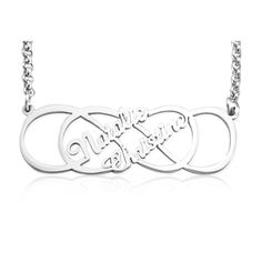 Personalised Infinity X #Infinity #NameNecklace - Sterling Silver