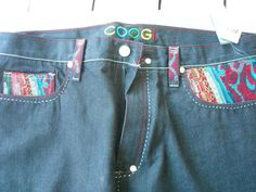 NWT COOGI MEN'S Dark Wash Baggy Loose Wide Legged JEANS ~ 40 x 34 New: $135.00 #COOGI #BaggyLoose