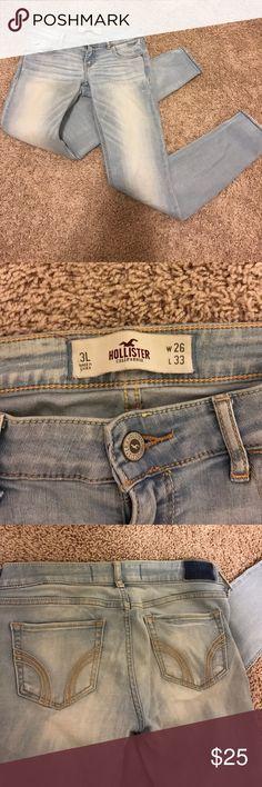 Light wash skinny jeans Super stretchy light was skinny jeans Hollister Jeans Skinny