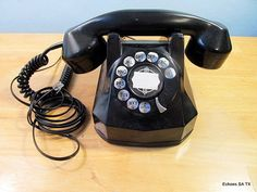 On Ruby Lane - Automatic Electric AE40 Bakelite Rotary Dial Telephone Works, $148
