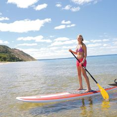 Summer is prime time to take advantage of three waterfront Michigan towns brimming with innovative cuisine and winning wineries, plus endless water views. Michigan Vacations, Michigan Travel, Traverse City Michigan, Lake Michigan, Wisconsin, Kayaks, Places To Travel, Places To See, Surf Kayak