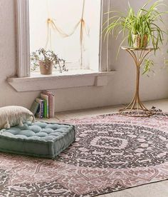 Tapis mandala coin yoga décor